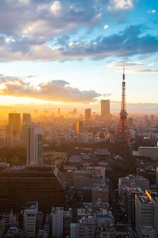 Токийская башня закат