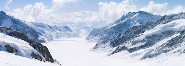 グレートアレッチ氷河ユングフラウアルプススイス