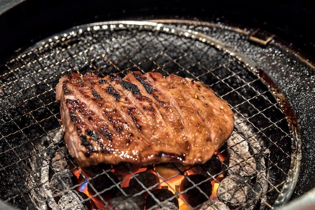 焼き肉牛肉のグリル