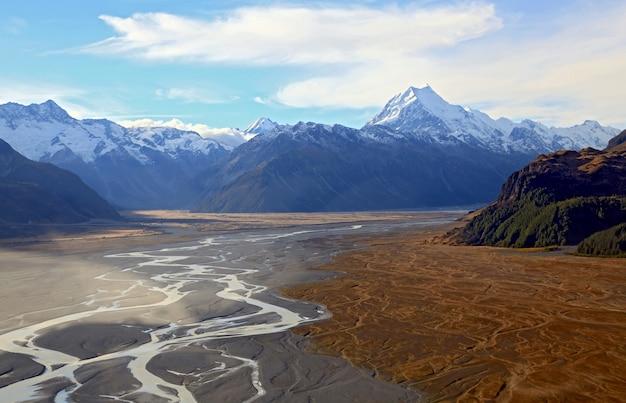 マウンテンクック風景ニュージーランド