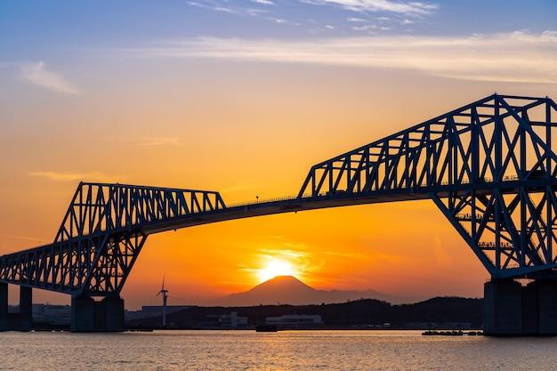 ダイヤモンド富士東京ゲートブリッジ