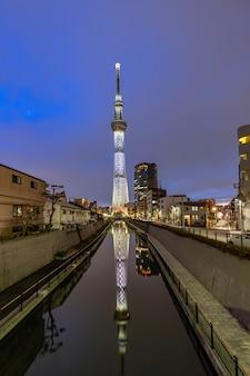 東京スカイツリーサンセット