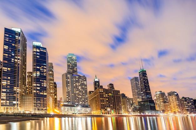 シカゴのスカイラインの建物