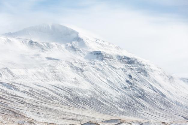 Исландия зимний пейзаж