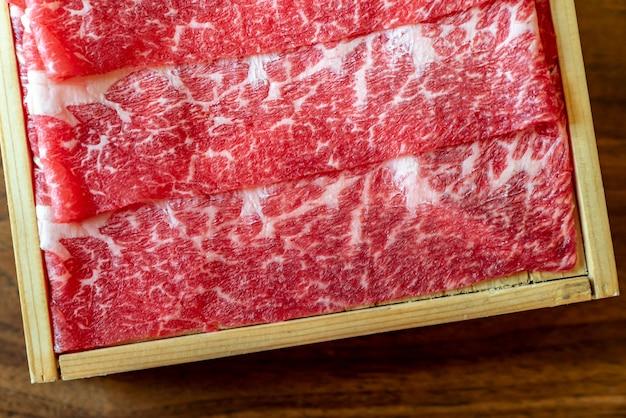 生の牛肉肉