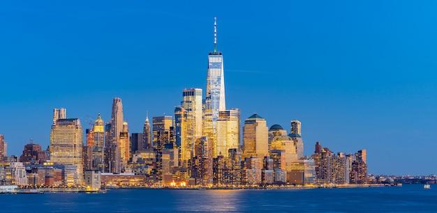 Нижний манхэттен нью-йоркская панорама