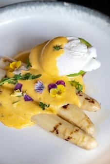 半熟卵焼きホワイトアスパラガス