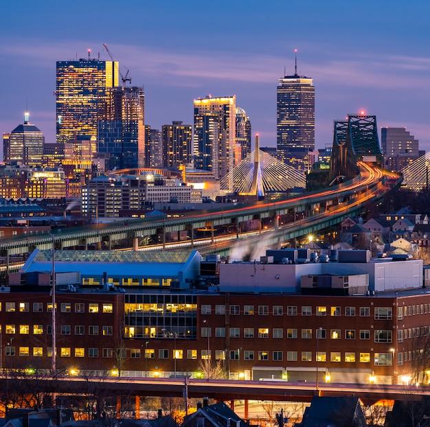 Городской пейзаж бостона