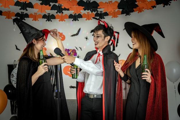 Хэллоуин вечеринка пение пение