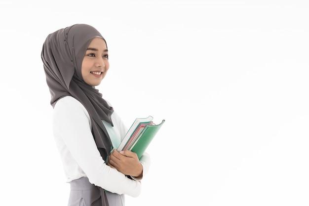 イスラム教徒の少女学生の肖像画
