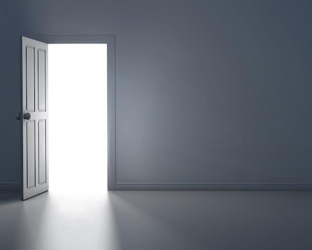 Межкомнатная дверь на стене