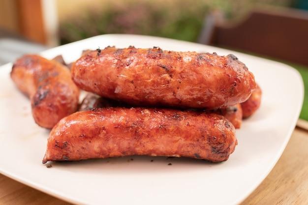 Бразильская свиная колбаса для барбекю.
