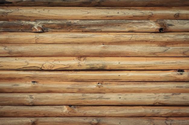 茶色の木の丸太の壁の背景