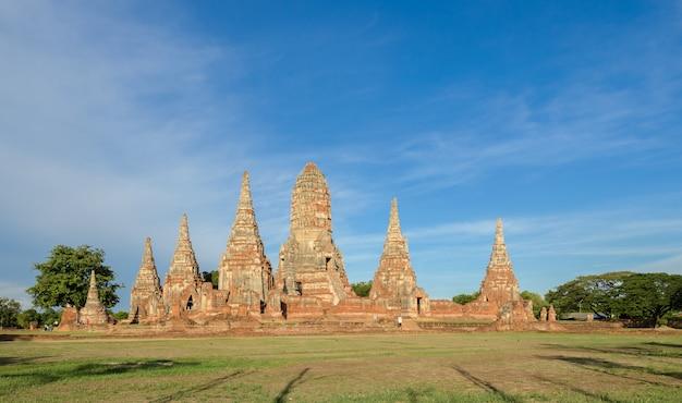 Храм ват чайватханарам, провинция аюттхая, таиланд