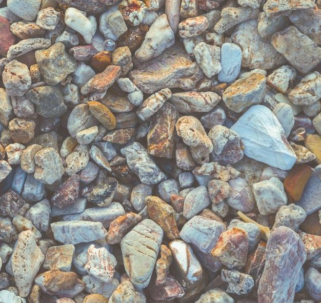 小石の海石の背景
