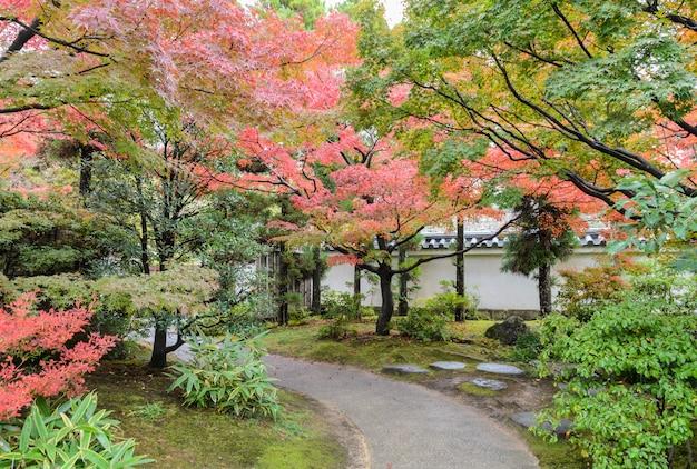 姫路、日本の秋の季節の伝統的な日本庭園
