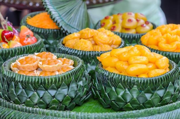 伝統的なタイの甘いデザート