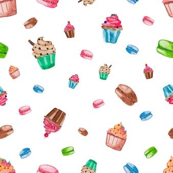 甘いデザートパターン