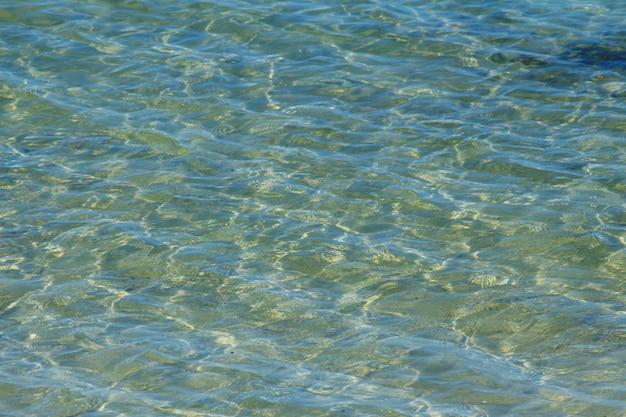 Волна синего моря с отражением золотого света