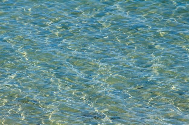 Синее море с отражением золотого света