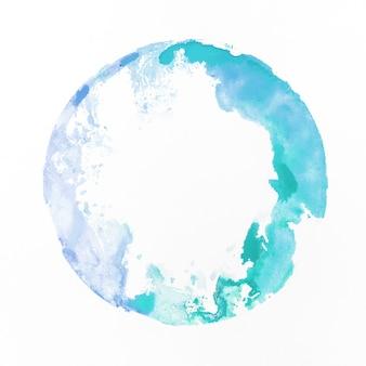 Акварель синего цвета