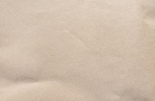 茶色の紙のテクスチャしわくちゃのリサイクル紙の背景