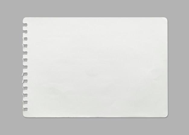クリッピングパスと背景の紙のテクスチャの白いシート。