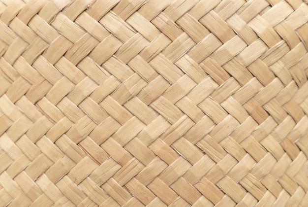 背景として使用するための竹かごのテクスチャです。編まれたバスケットパターンと質感。