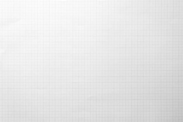 Белая бумага с узором линии сетки для фона. крупный план.