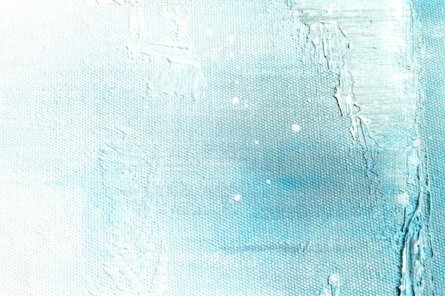 抽象的なブルーのカラフルなアート絵画のキャンバスのテクスチャ背景。