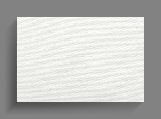 ソフトシャドウと灰色の壁の背景にキャンバスフレーム。