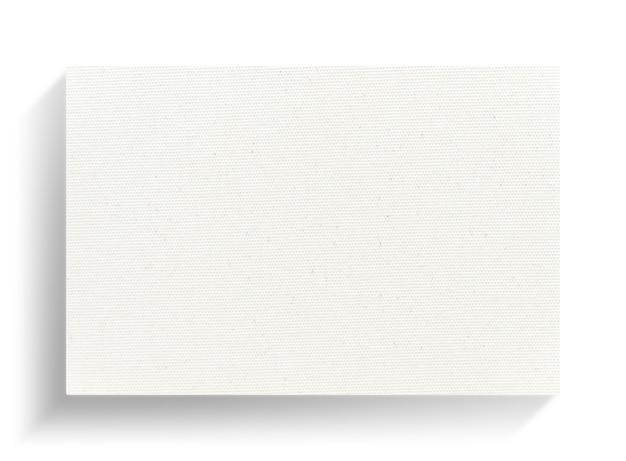 白い背景の上の白いキャンバスフレーム。
