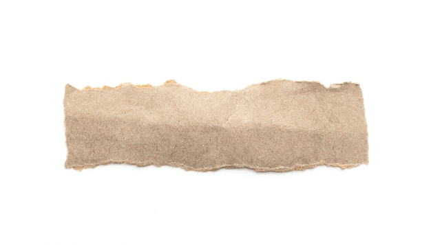 白い背景の上の再生紙クラフトスティック。