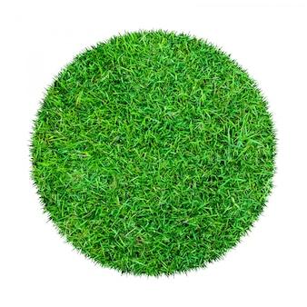 緑の芝生パターン、白で隔離されます。