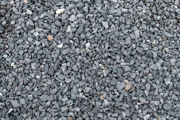 花崗岩の砂利のパターンとテクスチャーの風景と建設。