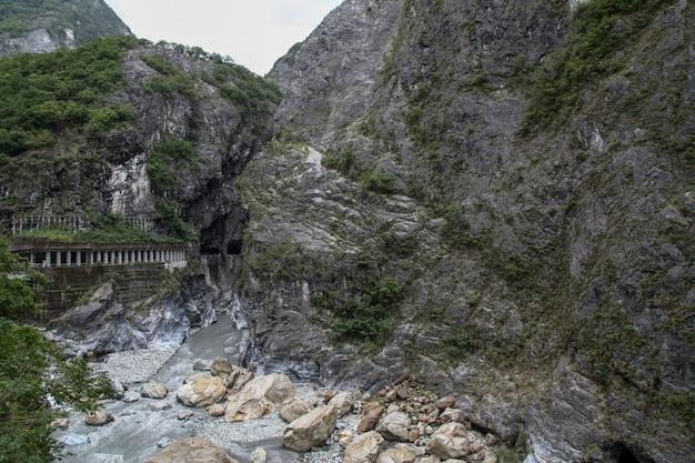 花蓮、台湾の太魯閣国立公園の風景の眺め。