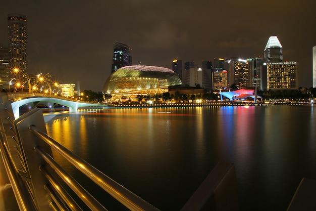 シアターズオンザベイは、マリーナベイにあるパフォーマンスおよびアートセンターです。スパイク状の外観のため、シンガポール人からドリアンと呼ばれています。