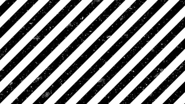 Черно-белая полоса линии предупреждающий знак шаблон