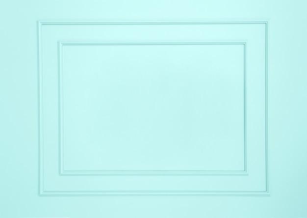 白い壁の空のフレーム