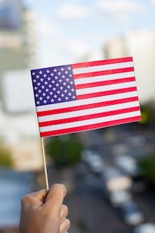 Патриотическая сша фон с американским флагом