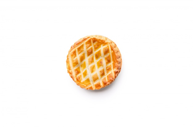 孤立した白のパイパン食品プレート