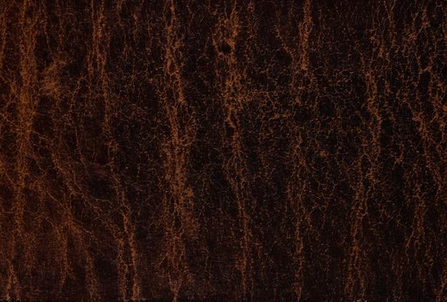 暗い抽象的な茶色の革テクスチャ背景