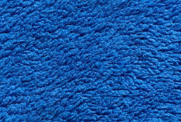 マクロ青い布のテクスチャの背景