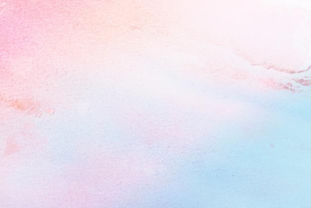 紙の背景に水彩画のパステルカラーのペイントアート