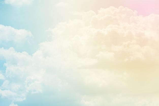 パステルカラーの雲の背景