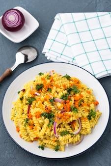 パスタフジッリと野菜のハーブソース