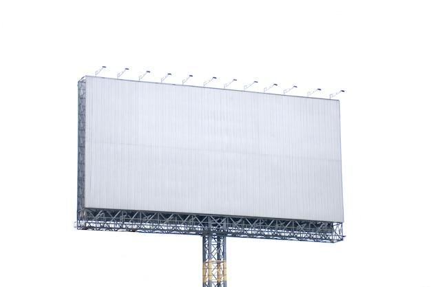Пустой рекламный щит на белом