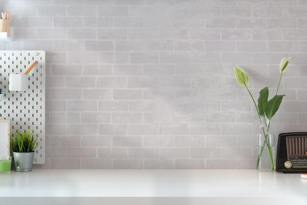 Лофт домашнего офиса рабочее пространство и копирование пространства