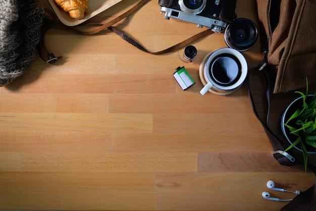 写真家とコピースペースの木の職場の平面図