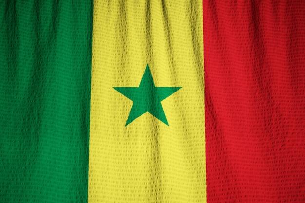 セネガルの旗、セネガルの旗、風に吹く